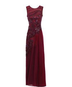 Elie Saab | Приталенное Платье-Макси С Открытой Спиной И Декоративной Отделкой