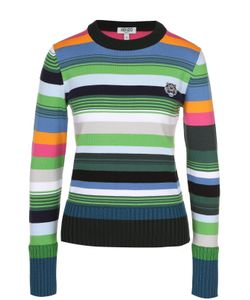 Kenzo | Пуловер В Полоску С Логотипом Бренда