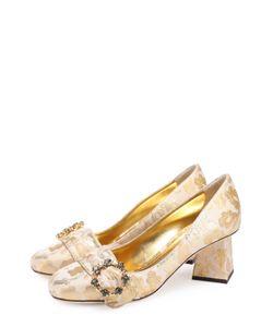 Dolce & Gabbana | Парчовые Туфли Jackie На Фигурном Каблуке
