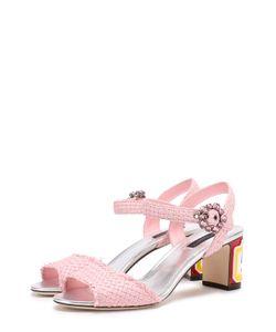 Dolce & Gabbana | Плетеные Босоножки Keira На Каблуке С Декором