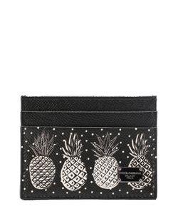 Dolce & Gabbana | Кожаный Футляр Для Кредитных Карт С Принтом