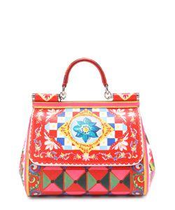 Dolce & Gabbana | Сумка Sicily Medium Из Кожи С Принтом