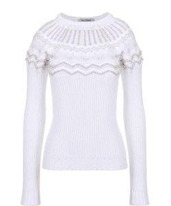 Valentino | Облегающий Пуловер Фактурной Вязки С Декоративной Отделкой