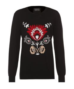 Markus Lupfer | Удлиненный Пуловер С Контрастным Принтом И Вышивкой Пайетками