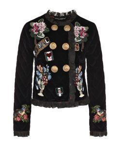 Dolce & Gabbana | Двубортный Бархатный Жакет С Нашивками