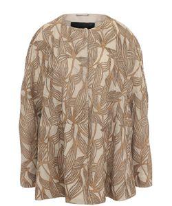 Giorgio Armani   Кожаная Куртка Свободного Кроя С Круглым Вырезом