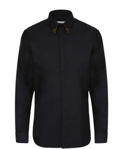 Givenchy | Хлопковая Рубашка С Декоративной Отделкой Воротника