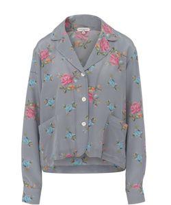 Natasha Zinko | Шелковая Блуза В Пижамном Стиле С Цветочным Принтом