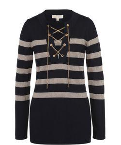 Michael Michael Kors | Удлиненный Пуловер В Контрастную Полоску С Декоративной Отделкой