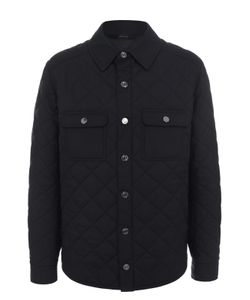 Brioni | Шелковая Стеганая Куртка С Отделкой Из Натуральной Кожи