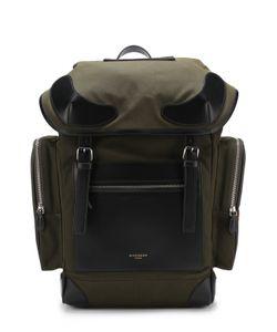 Givenchy | Текстильный Рюкзак С Клапаном И Внешними Карманами На Молнии