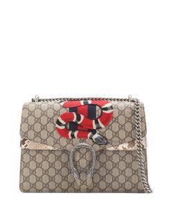 Gucci | Сумка Dionysus Gg Supreme С Отделкой Из Кожи Питона