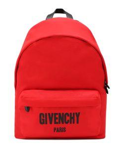 Givenchy | Текстильный Рюкзак С Контрастной Отделкой И Внешним Карманом На Молнии