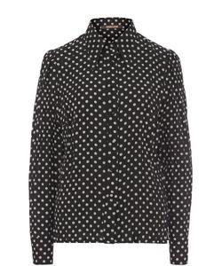 Roberto Cavalli | Шелковая Приталенная Блуза В Горох