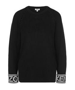 Kenzo | Хлопковый Пуловер С Перфорацией И Круглым Вырезом