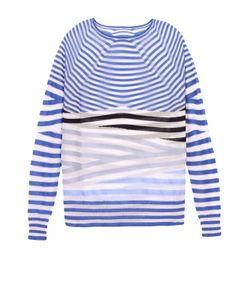 Giorgio Armani | Полупрозрачный Пуловер В Контрастную Полоску С Круглым Вырезом