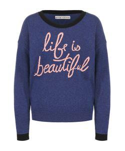 Alice + Olivia | Пуловер Свободного Кроя С Контрастной Вышивкой