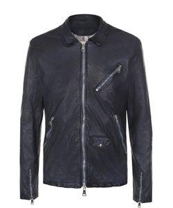 Giorgio Brato | Кожаная Куртка На Молнии С Эффектом Крэш