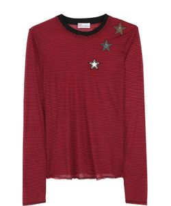 Red Valentino | Пуловер В Полоску С Нашивками В Виде Звезд