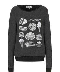 Wildfox   Пуловер Свободного Кроя С Принтом