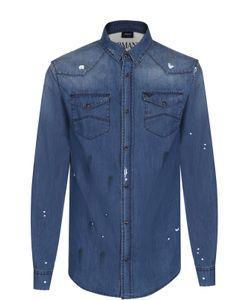 ARMANI JEANS | Джинсовая Рубашка С Контрастной Отделкой