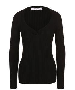 Givenchy   Пуловер Фактурной Вязки С V-Образным Вырезом