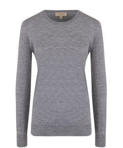 Burberry | Шерстяной Пуловер С Круглым Вырезом И Заплатками