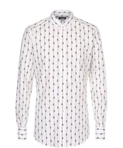 Dolce & Gabbana | Хлопковая Рубашка С Принтом