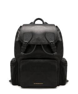Burberry | Кожаный Рюкзак С Клапаном И Внешними Карманами На Молнии