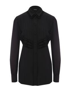 Kiton | Удлиненная Шелковая Блуза С Фактурной Отделкой
