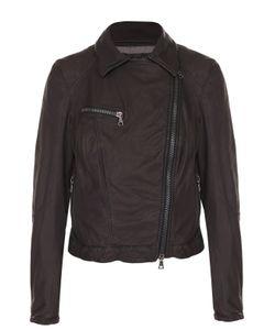 Drome | Укороченная Кожаная Куртка С Косой Молнией
