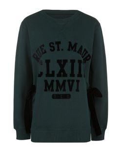 MM6 by Maison Margiela | Пуловер Свободного Кроя С Бархатными Бантами