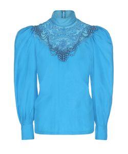 Dries Van Noten | Шелковая Блуза С Рукавом-Фонарик И Вышивкой Бисером