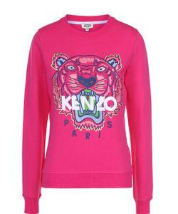 Kenzo | Хлопковый Свитшот С Контрастной Надписью И Логотипом Бренда