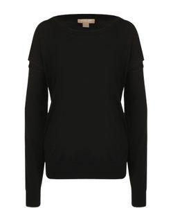 Michael Kors | Шерстяной Пуловер С Круглым Вырезом И Разрезами На Рукавах