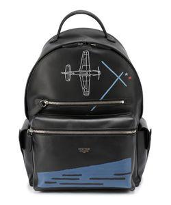 Bertoni | Кожаный Рюкзак С Контрастным Принтом