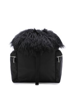 Dsquared2 | Текстильный Рюкзак С Отделкой Из Овчины