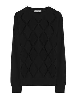 Paco Rabanne | Шерстяной Пуловер С Круглым Вырезом И Перфорацией