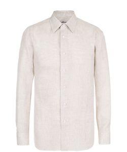 Brioni | Льняная Рубашка С Воротником Кент