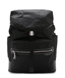 Bally | Текстильный Рюкзак С Отделкой Из Натуральной Кожи