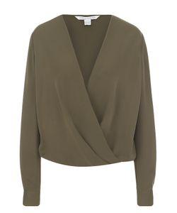 Diane Von Furstenberg | Шелковая Блуза Свободного Кроя С V-Образным Вырезом