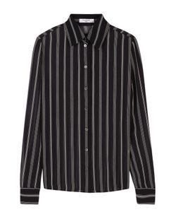 Lanvin | Шелковая Полупрозрачная Блуза В Полоску