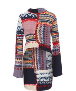 Alexander McQueen | Пуловер Фактурной Вязки С Удлиненной Спинкой