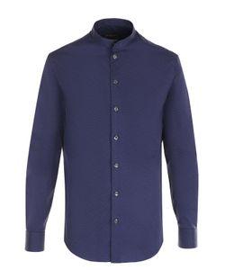 Armani Collezioni | Хлопковая Рубашка С Воротником-Стойкой