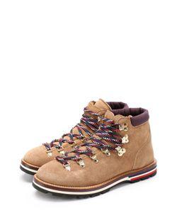 Moncler | Замшевые Ботинки На Контрастной Шнуровке