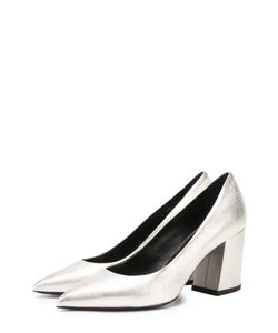 Baldan | Туфли Из Металлизированной Кожи На Устойчивом Каблуке