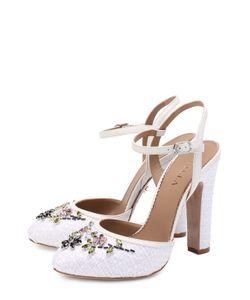 Le Silla | Текстильные Туфли С Кристаллами На Устойчивом Каблуке