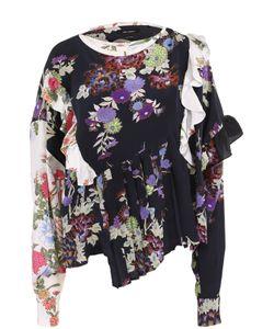 Isabel Marant | Шелковая Блуза С Оборками И Принтом