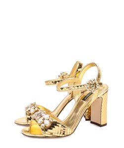 Dolce & Gabbana | Босоножки Keira Из Фактурной Кожи С Кристаллами