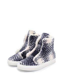 Joshua Sanders | Высокие Текстильные Ботинки С Меховой Отделкой